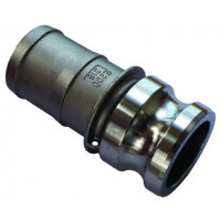 Camlock AL 38mm Type E Male Adaptor x Hose Tail